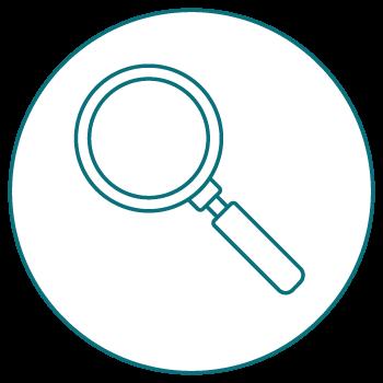 Icon Lupe - Ausschreibungen schnell und einfach finden