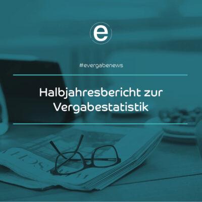 Newsbeitrag auf evergabe.de: Erster Bericht zu Vergabestatistik